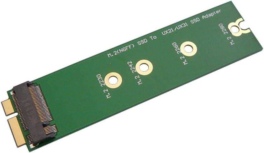 ADAPTER WORLD - Adaptador SATA M.2 NGFF B para Asus Zenbook UX21 y ...