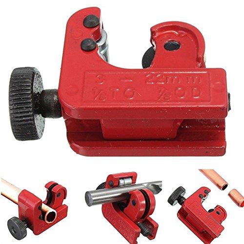 (Mini Tube Cutter Slice Copper Brass Aluminum Plastic Tubing Pipe Cutting Tool 3-22mm 1/8inch-7/8inch (red))