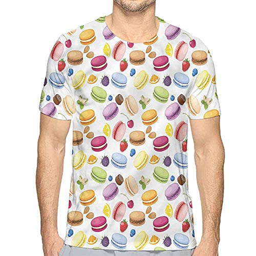 t Shirt for Men Colorful,Traditional French Macaron Custom t Shirt XL