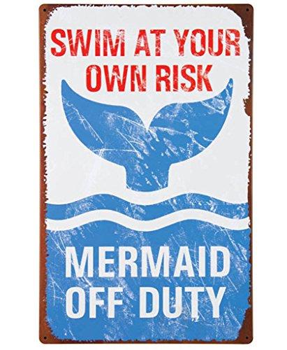 k Mermaid Off Duty (Dads Garden Sign)