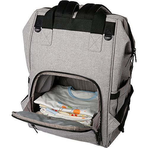 ferlin wide open design baby diaper bag backpack with stroller import it all. Black Bedroom Furniture Sets. Home Design Ideas