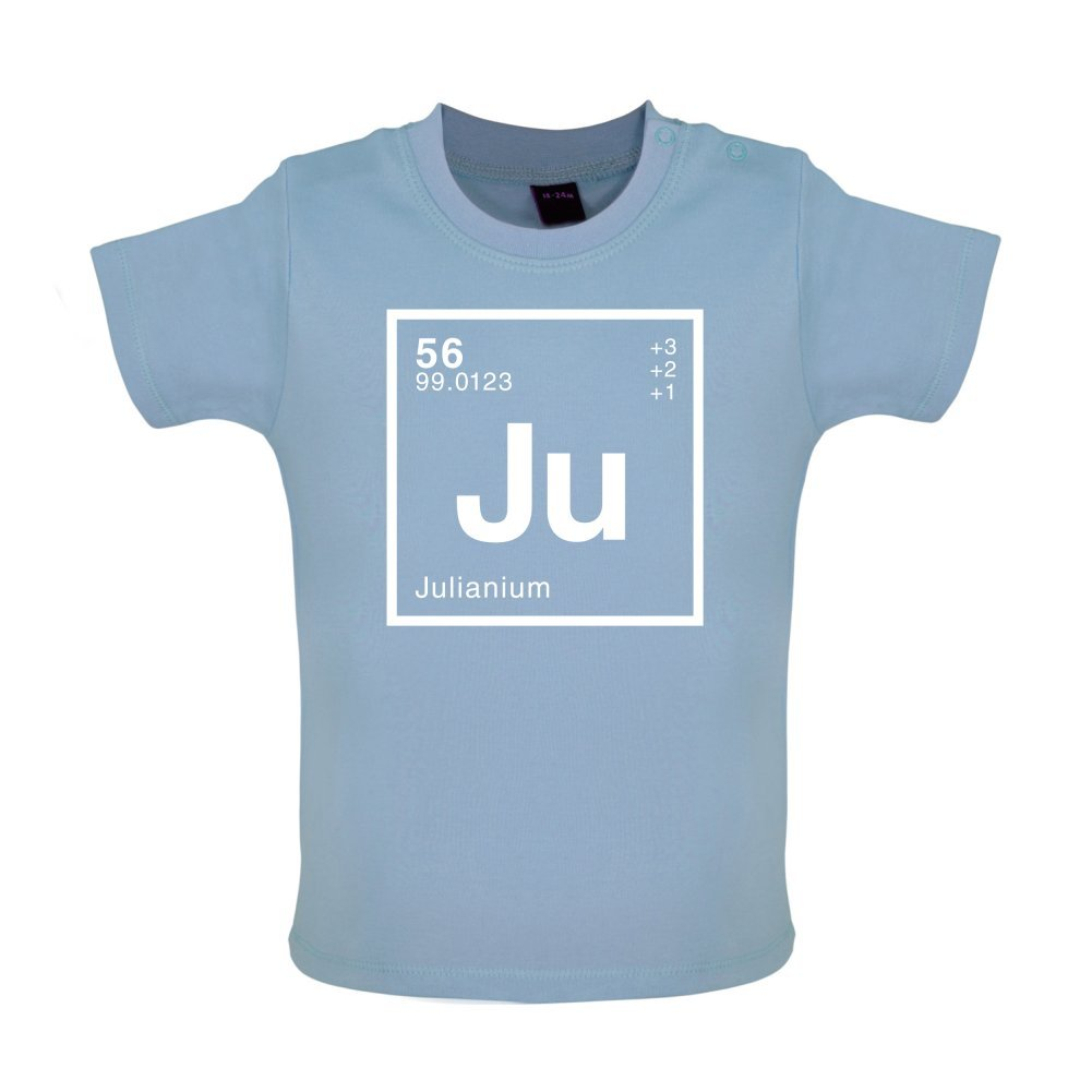 Dressdown Julian Periodic Element Baby T-Shirt Ages 3-24 Months 8 Colours