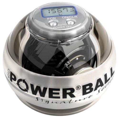 Exercice: Powerball Neon Pro Signature Blanc exercice HAND BALL Exerciseur