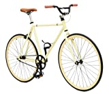 Critical Cycles Fixed Gear Single Speed Fixie Urban Road Bike (Tan, Large) offers