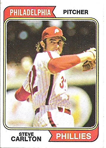 STEVE CARLTON BASEBALL CARD - 1974 TOPPS BASEBALL CARD #95 (PHILADELPHIA PHILLIES) FREE SHIPPING ()