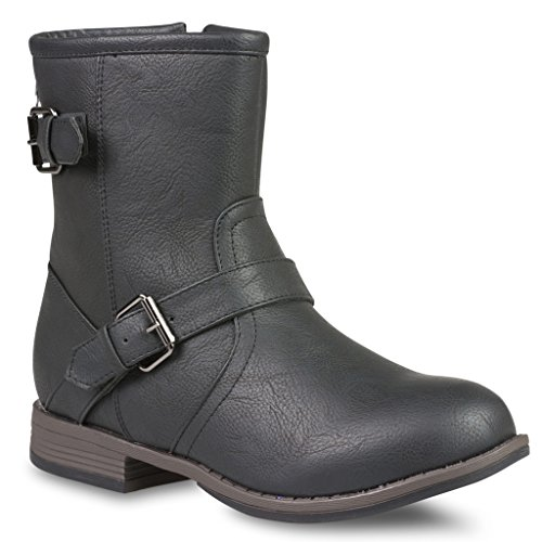 Twisted Women's Amira Short Buckle Strap Riding Boot - AMIRA68 Black, Size 9