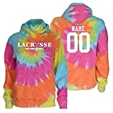 JANT girl Custom Lacrosse Tie Dye Sweatshirt - Lacrosse Play Tough Get Dirty White Logo (Pastel Twist, YM)