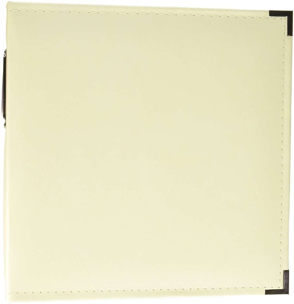 8.5 x 11-inch Classic Leather 3-Ring Album by We R Memory Keepers   Vanilla, includes 5 page protectors