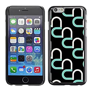 Plastic Shell Protective Case Cover || Apple iPhone 6 || Black Pattern Abstract Art @XPTECH