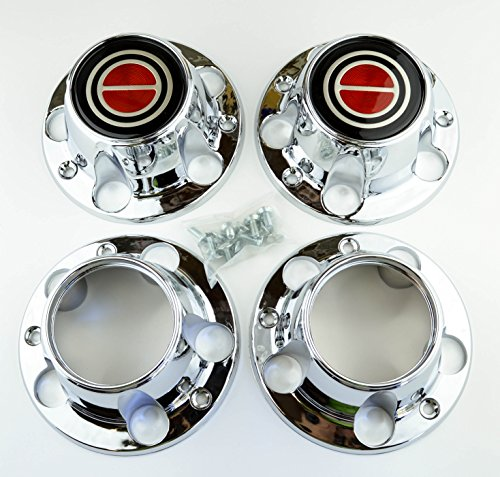 Ford Truck Bronco Van - Set of 4 New 1980-1996 Ford F150 Truck Bronco Van 4x4 Wheel Hub Center Caps Chrome Red 4wd 4 wheel drive