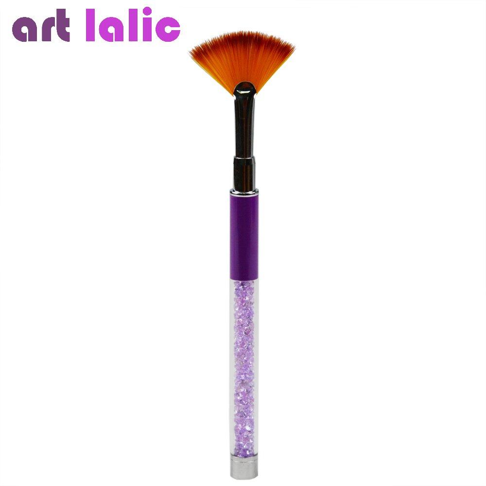 Artlalic Cristal en forme de ventilateur de nail art Brosse Stylo peinture acrylique gel UV dégradé