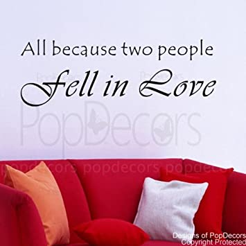 Amazon Popdecors All Because Two People Fell In Love Words