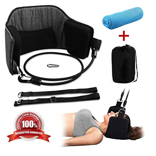Neck Head Hammock Cervical Traction and Relaxation Device, Neck Cradle for Neck Pain Relief Portable for Travel Neck Head Shoulder Pain Relief (Set 01)