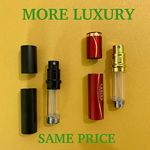 Perfume Bottle Atomizer Empty, Refillable Travel Cologne Sprayer, D-LOTUS Portable Easy Perfume Spray Scent Pump Case for Men and Women, Leak Proof Fragrance Container, TSA Sized Travel Buddy, 5ml