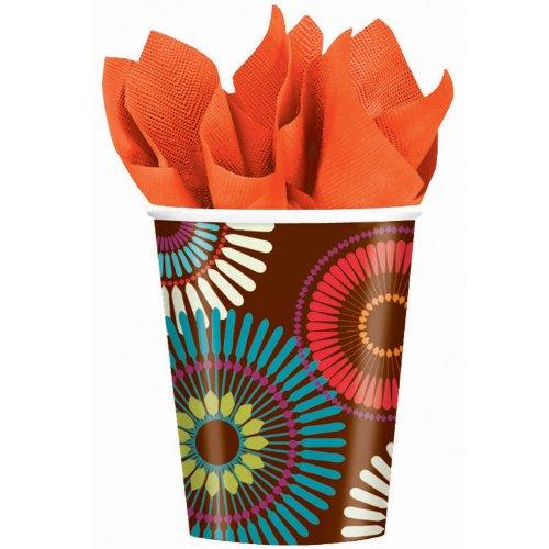 Paper Cups 9oz 8/Pkg-Modern Motif