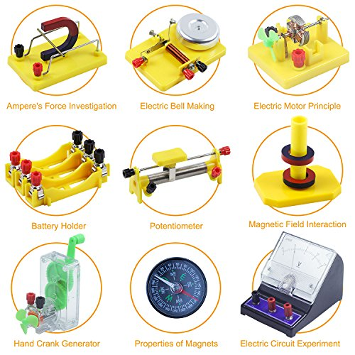 Teenii STEM Physics Science Lab Basic Circuit Learning Starter Kit Electricity and Magnetism Experiment for Kids Junior Senior High School Students Electromagnetism Elementary Electronics LERBOR by Teenii (Image #3)