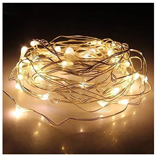 Sokaton String Lights, 10ft/3m Warm White 30 LED Starry String Lights Battery Operated Super Bright Led Rope Lights Copper Wire Lights Christmas Wedding Bedroom Vintage Windows Seasonal Decorative