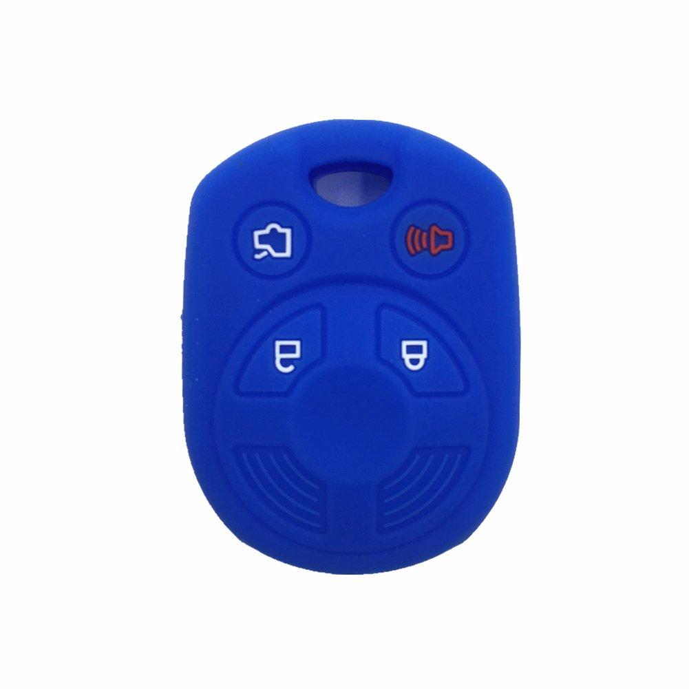 Amazon.com: Funda protectora de goma para llave de Ford con ...
