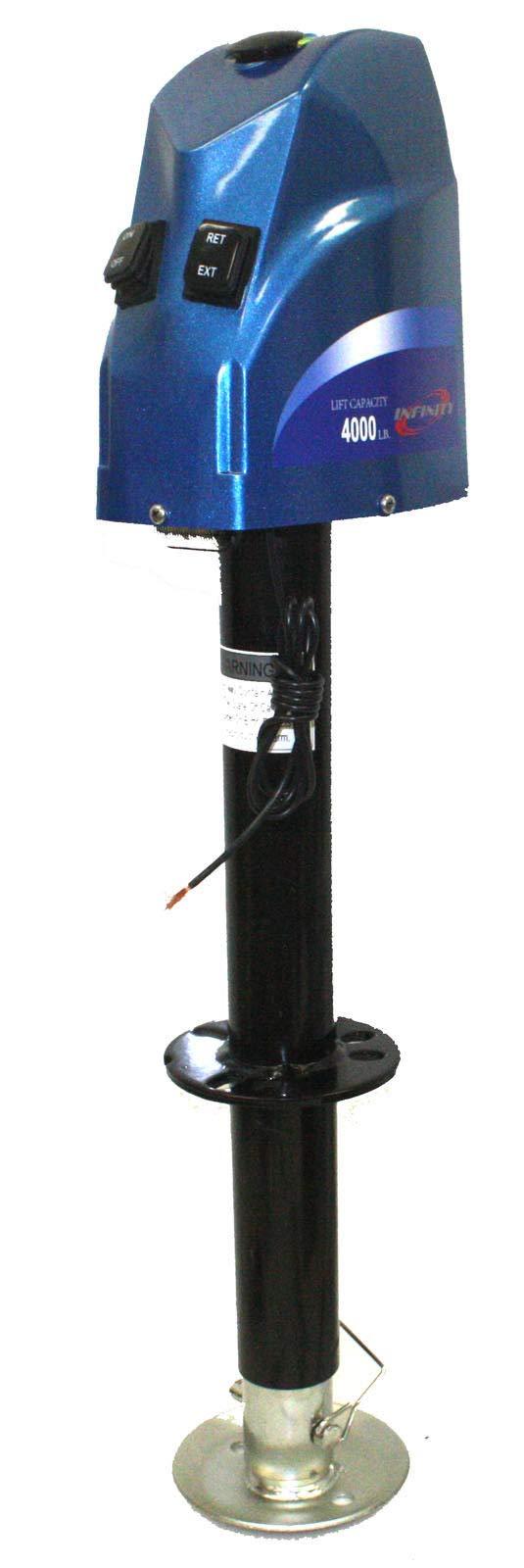 9TRADING A-Frame 12V Electric Trailer Lift Jack 4,000lbs 14'' Lift Tongue Jack RV Trailer