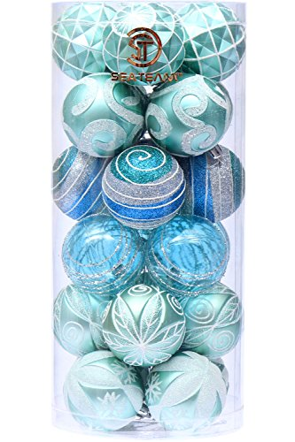 Sea Team Package of teal and Aqua ornaments