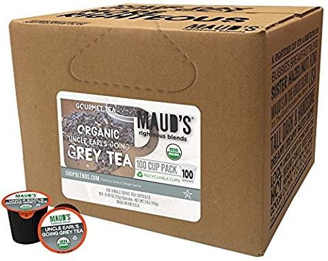 Maud's Gourmet Tea Pods - Uncle Earl's Going Grey Tea, 100-Count Recyclable Single Serve Pods - Carefully Sourced & Blended - Sealing in the Freshness - Kcup Compatible, Including - Victorian Earl Grey Tea