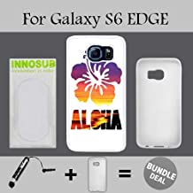 Aloha Sunset Surf Beach Custom Galaxy S6 EDGE Cases-White-Rubber,Bundle 2in1 Comes with Custom Case/Universal Stylus Pen by innosub