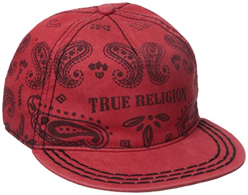 True Religion Men's Bandana Cap, True Red, One Size