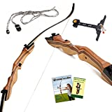 Takedown Hunting Recurve Bow Archery - 62' hunting bow 15-35lb draw back...