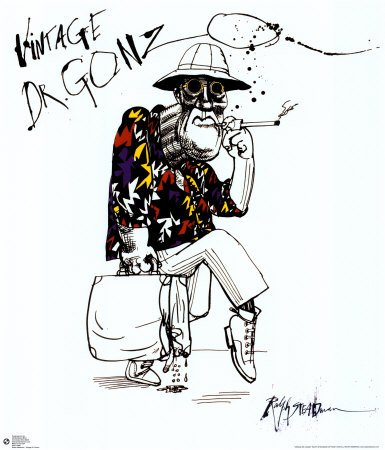 Fear And Loathing In Las Vegas Poster Print by Ralph Steadman