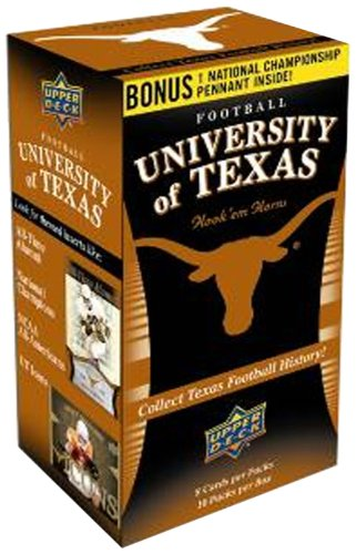 NCAA University of Texas Upper Deck Trading Cards - Blaster Box