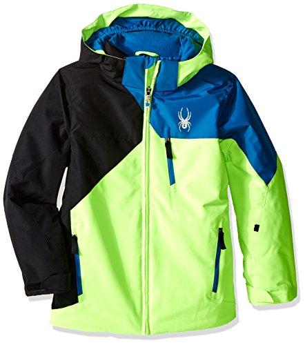 (Spyder Boys Ambush Jacket, Size 18, Bryte Green/Black/Concept Blue)