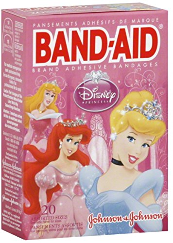 BAND-AID Children's Adhesive Bandages, Disney Princess, Assorted Sizes 20 ea (Pack of 3) by Band-Aid