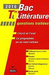 Bac littérature Tle L 2010