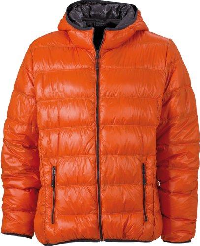 Nicholson Puffer amp; carbon dark orange Jacket JN1060 Mens Down James 5TqRxR