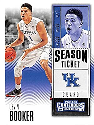 Devin Booker basketball card (Kentucky Wildcats Phoenix Suns star 70 Points) 2016 Panini Contenders #29