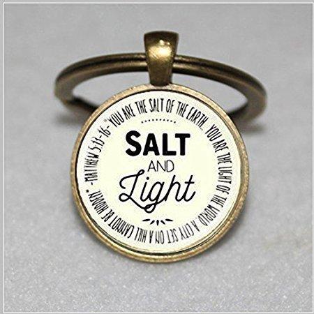 Medium Salz und Licht Anhänger Christian Schlüsselanhänger ...