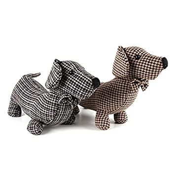 Fabric Dachshund Sausage Dog Door Stop Doorstop Tweed Herringbone Black Or Brown  sc 1 st  Amazon.com & Amazon.com: Fabric Dachshund Sausage Dog Door Stop Doorstop Tweed ...