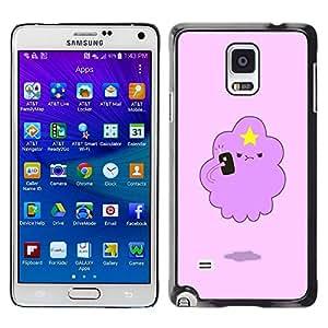 Be Good Phone Accessory // Dura Cáscara cubierta Protectora Caso Carcasa Funda de Protección para Samsung Galaxy Note 4 SM-N910 // Angry Cloud Star Art Drawing Cartoon