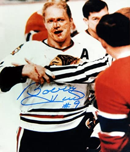 7a92d9543b3 Bobby Hull Signed 8x10 Photo - Chicago Blackhawks (Bloody) at ...