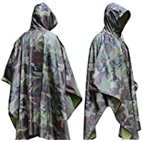 LYGLO Mens Camouflage Tactical Rain Coat Poncho Cover...