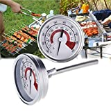 House full of romance New Stainless Steel Bimetallic Thermometer BBQ Smoker Pit Grill Oven Thermometers Temp Gauge Cooking Tools with Anti-fog Glass & Dual Display