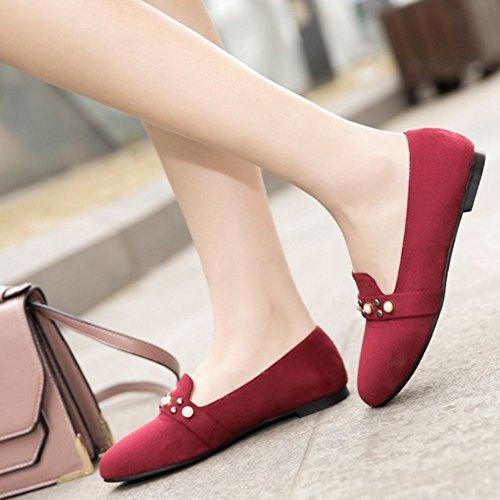 Rojo Sintético Material con Onewus Mujer Cuña Sandalias de RCXpUxw0q