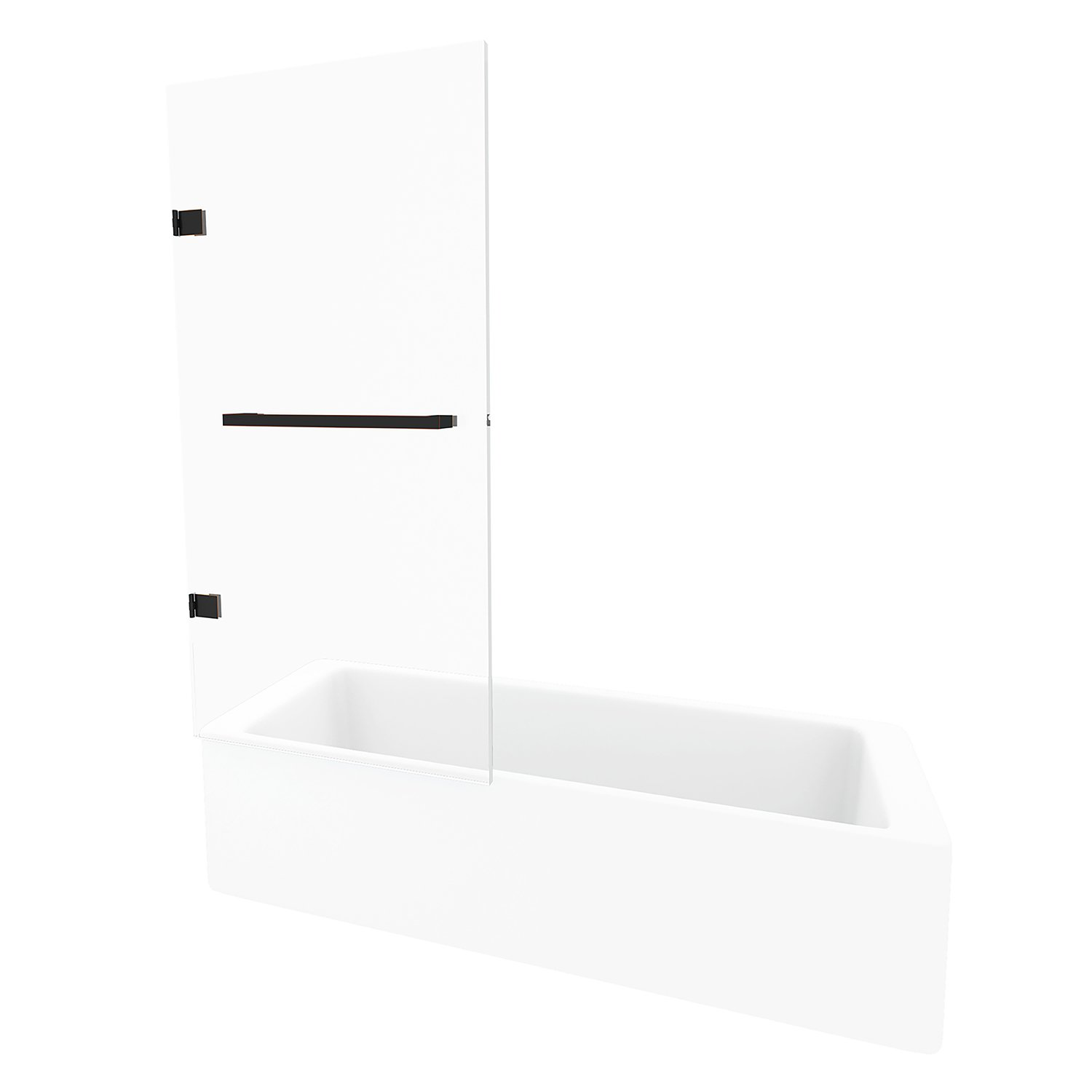 VIGO Rialto 34-in. Bathtub Door with .3125-in. Clear Glass ...