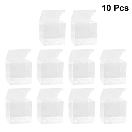 BESTONZON Pequeño Caja de Plástico Transparente para Embalaje Pastel Tarta Regalo y Manzana de Navidad 10pcs