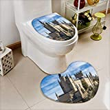 Cushion Non-slip Toilet Mat the alcazar of segovia spain with High Absorbency