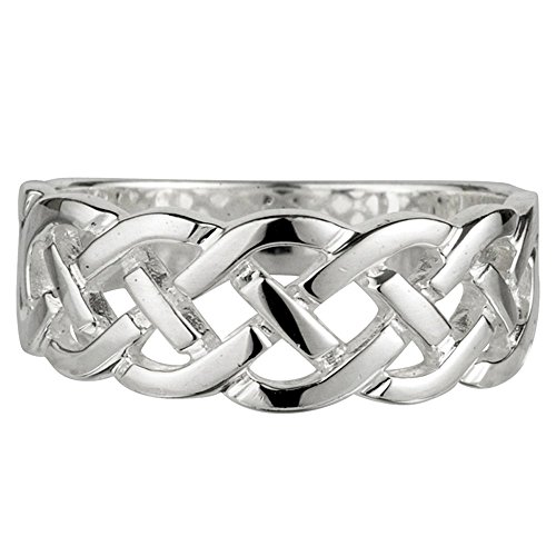 Celtic Knot Ring Sterling Silver Women's Made in Ireland Size 7 (Celtic Braid Ring)