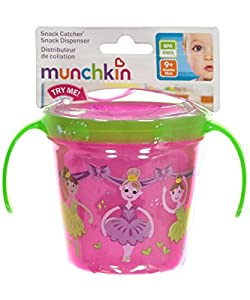 Munchkin DECO SNACK CATCHER pink girls: Amazon.co.uk: Baby