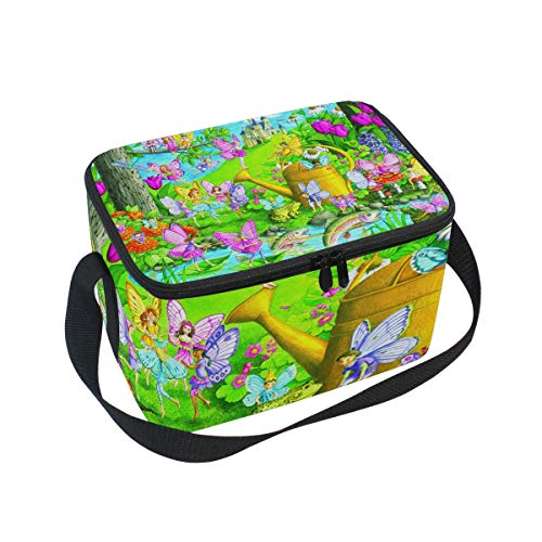 Fairy Playland Lunch Box Insulated Lunch Bag Large Cooler Tote Bag Picnic School Women Men Kids