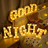 YANROO Light Up LED Letter Marquee Sign Alphabet