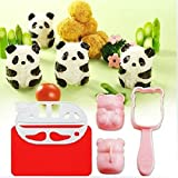OrangeTag New Bento Accessories Rice Ball Mold Mould with Nori Punch Sushi Panda ...